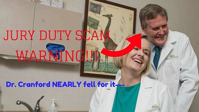 Dr. Cranford Scam Warning