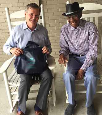 Dr. Cranford with Mr. Miller at Rock Hill Senior Center
